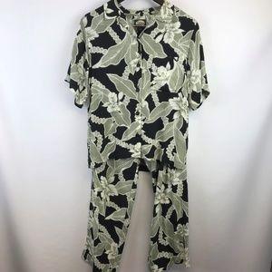Tommy Bahama Womens Pant Suit Top XS Pants 6